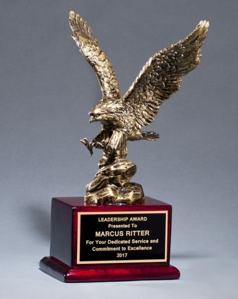 Antique Bronze Finished Eagle Trophy (TM18)