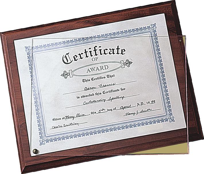 TBPL-0112 Certificate Plaque